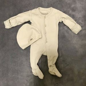 L'ovedBaby 100% Organic Cotton Newborn Sleeper Set